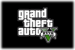 Grand Theft Auto V Logo black