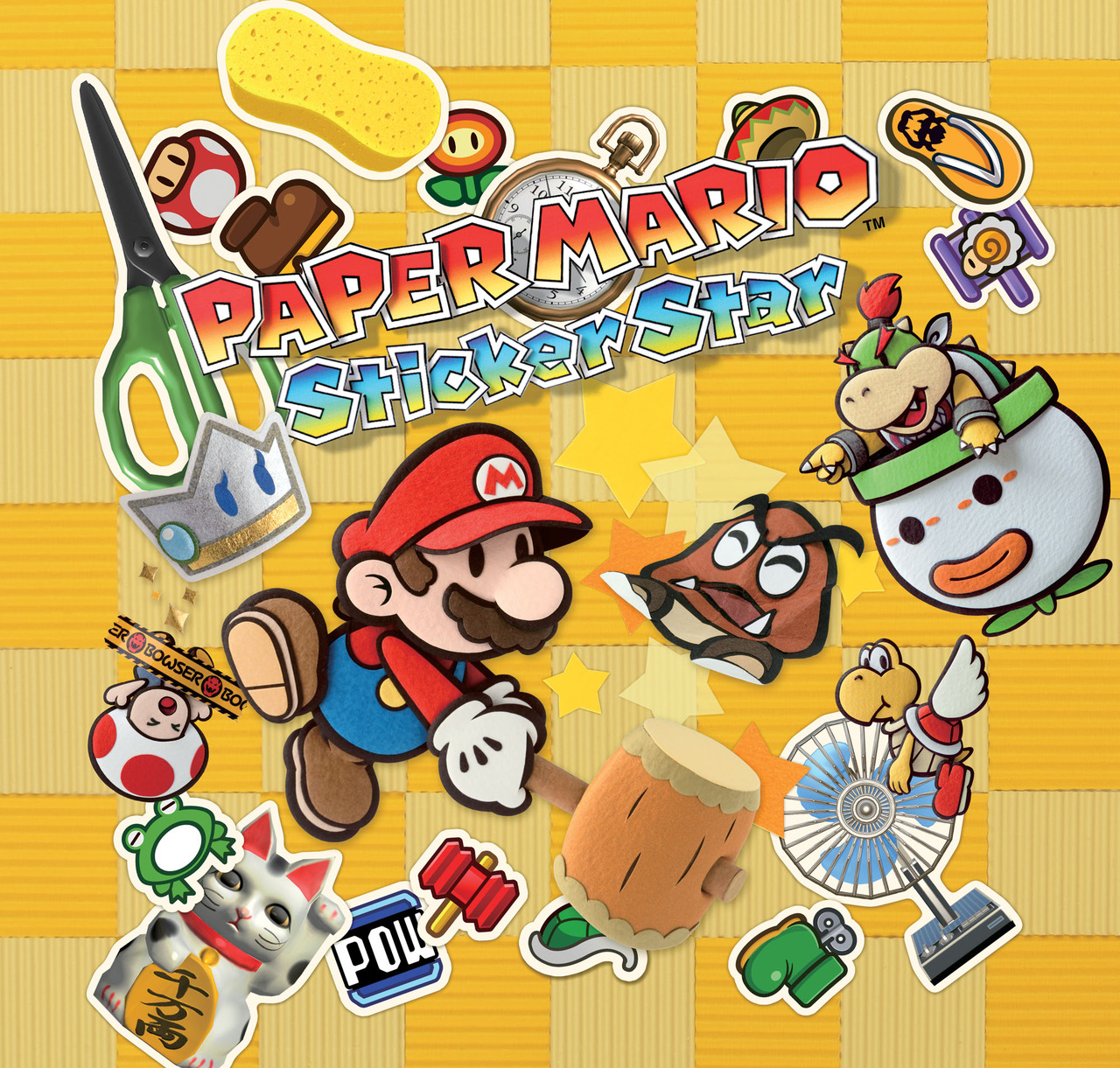 Paper Mario Sticker Star Sticker Book Cover - #traffic-club