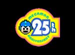 Mega Man 25 Anniverzari Logo black