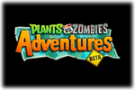 Plants vs Zombies Adventures Beta Logo black