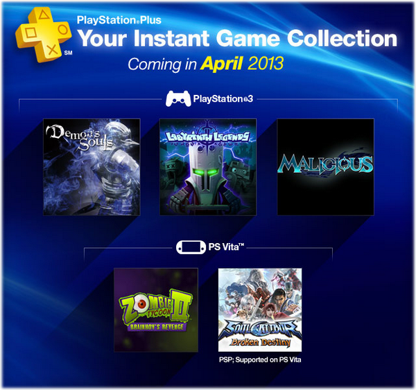 Playsattaion Plus - Instant Game Collection - Abril 2013