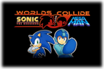 Sonic X Mega Man Worlds Collide Logo black