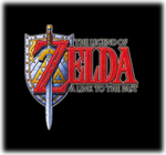 The Legend of Zelda A Link to the Past Logo black