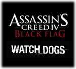 Assassins Creed IV Black Flag - Watch_Dogs Logo black