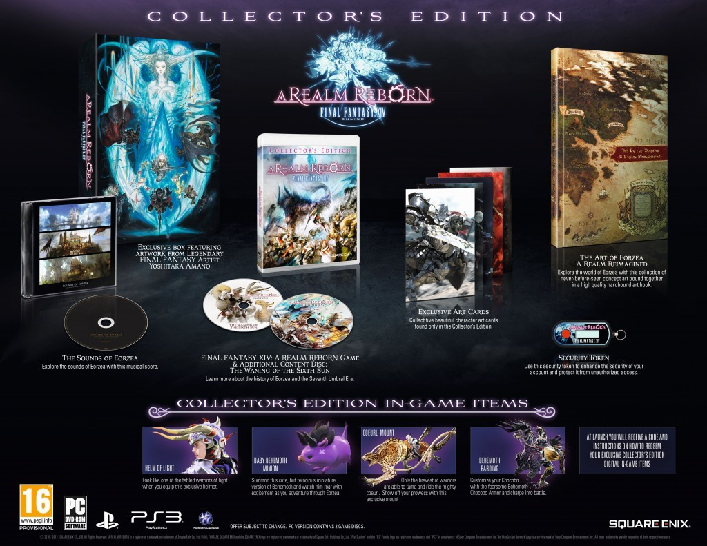 Final Fantasy XIV A Realm Reborn Collector's Edition