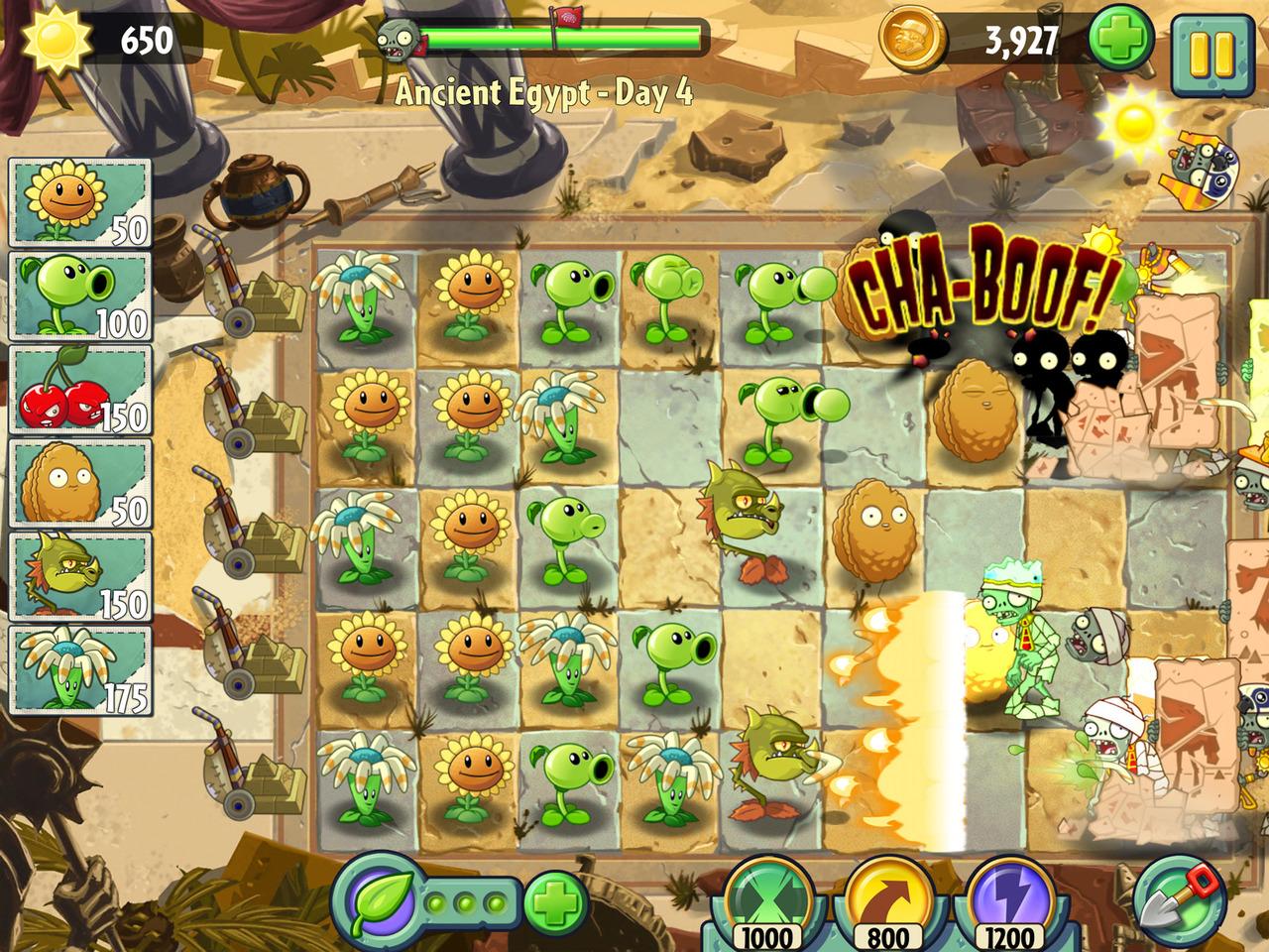 Nuevas imágenes de plants vs zombies 2 it s about time