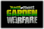 Plants vs Zombies Garden Warfare Logo black