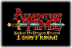 Adventure Time - Explore the Dungeon Because I DON'T KNOW! Logo black