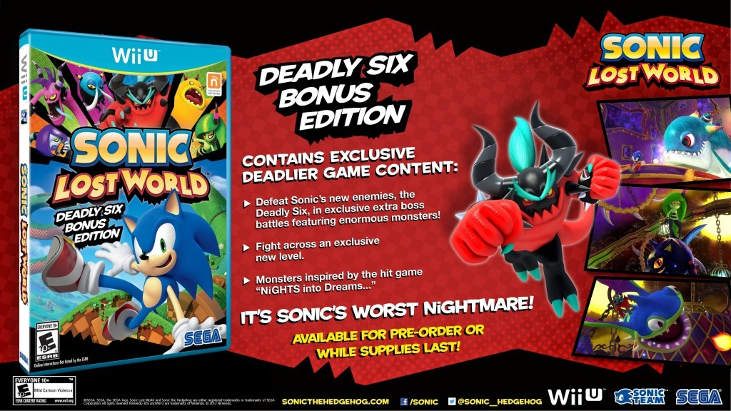 Sonic Lost World Deadly Six Edition USA