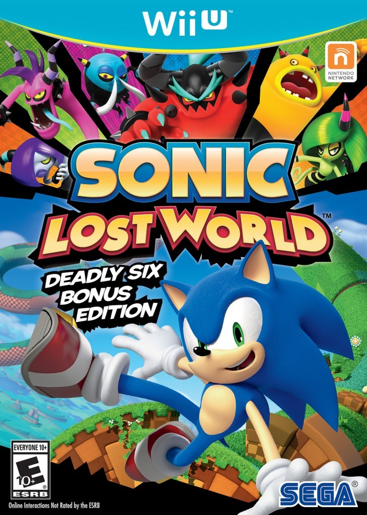 Sonic Lost World Deadly Six Edition cover Wii U USA