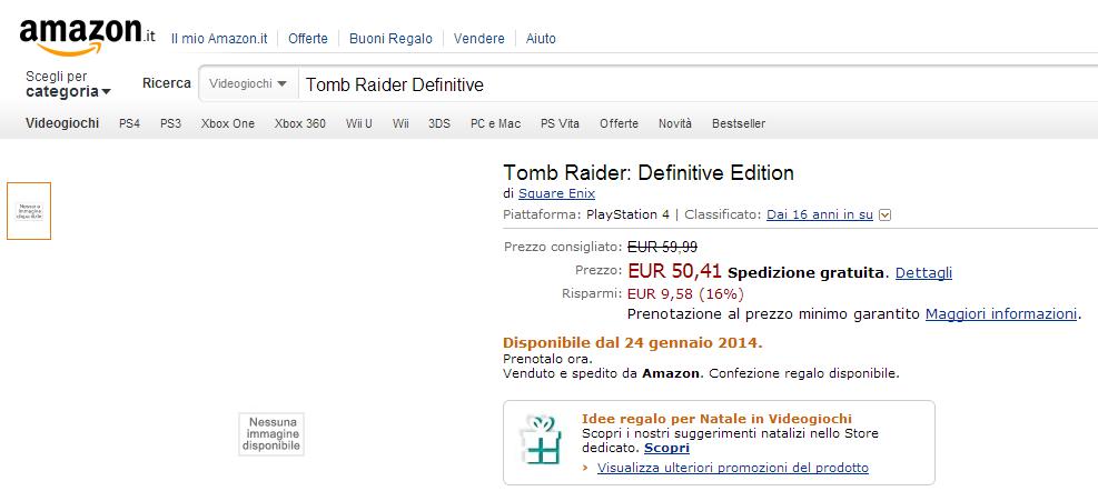 Tomb Raider Definitive Edition Amazon PS4