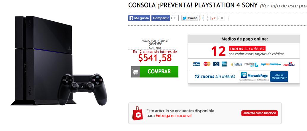 Playstation 4 en Garbarino