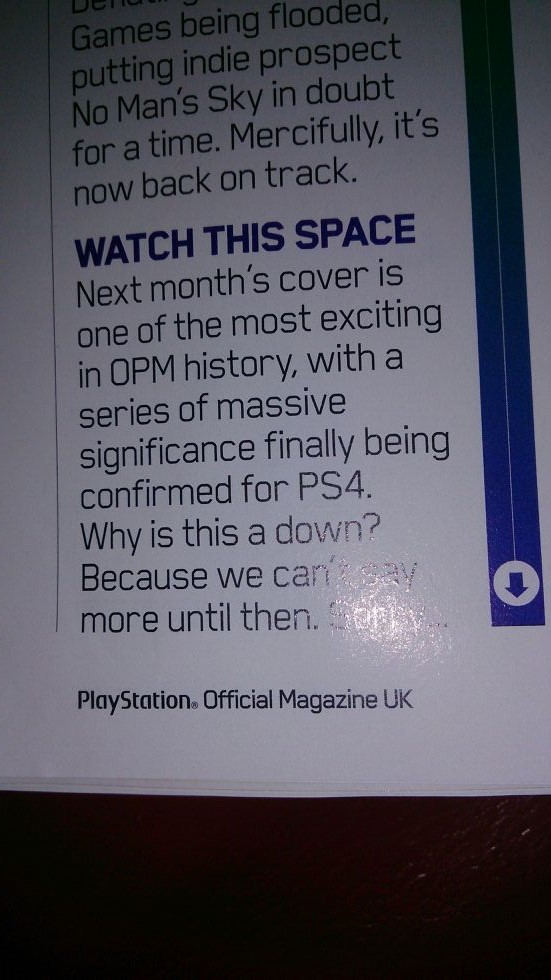 PlayStation Official Magazine UK - Teaser -Series of Massive Significance