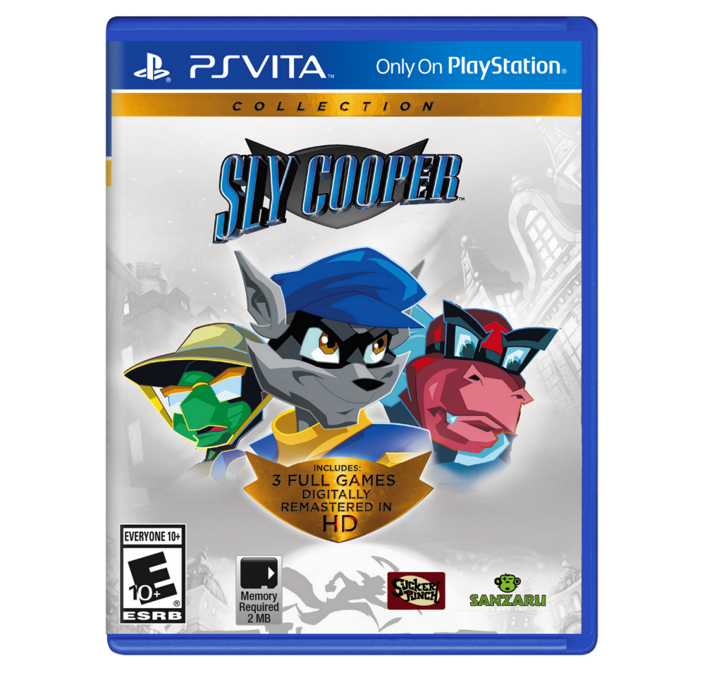 Sly Cooper Collection cover PS Vita USA