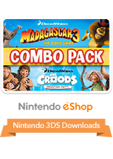 Madagascar 3 & The Croods Prehistoric Party Combo Pack eShop 3DS Logo