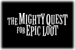 The Mighty Quest for Epic Loot Logo black