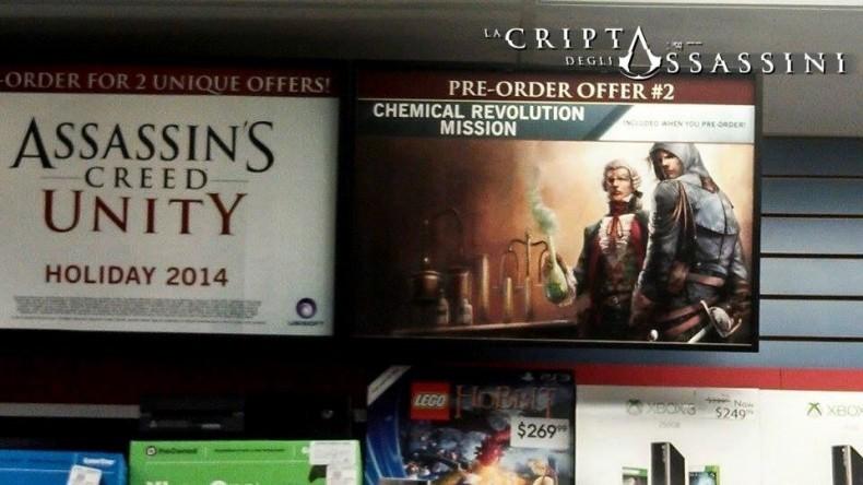 Assassin's Creed Unity - Gamestop Poster - Pre-Order Bonus