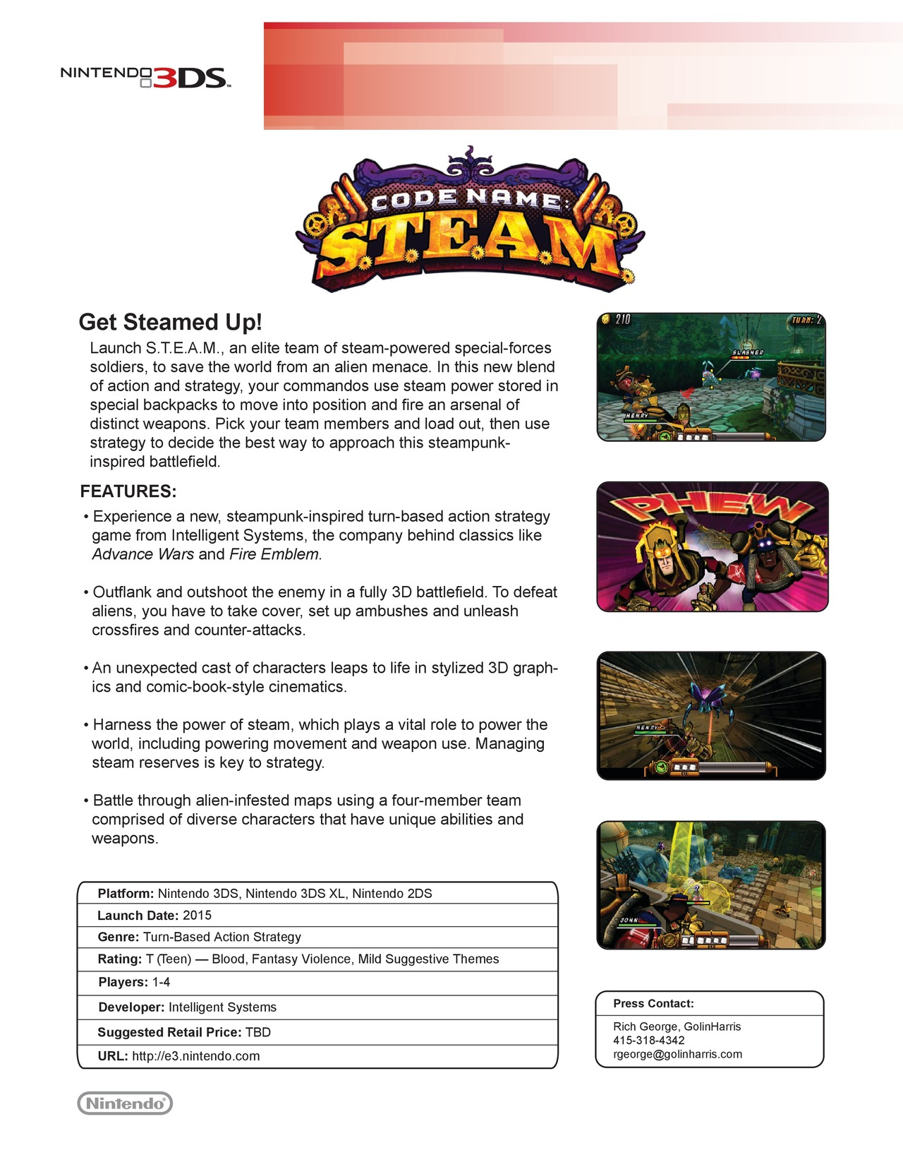 Codename STEAM Fact Sheet