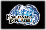 Final Fantasy Explorers Logo black