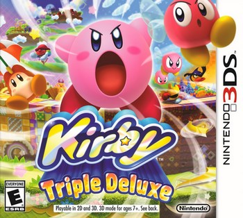 Kirby Triple Deluxe cover 3DS USA