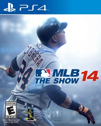 MLB 14 The  Show cover PS4 USA