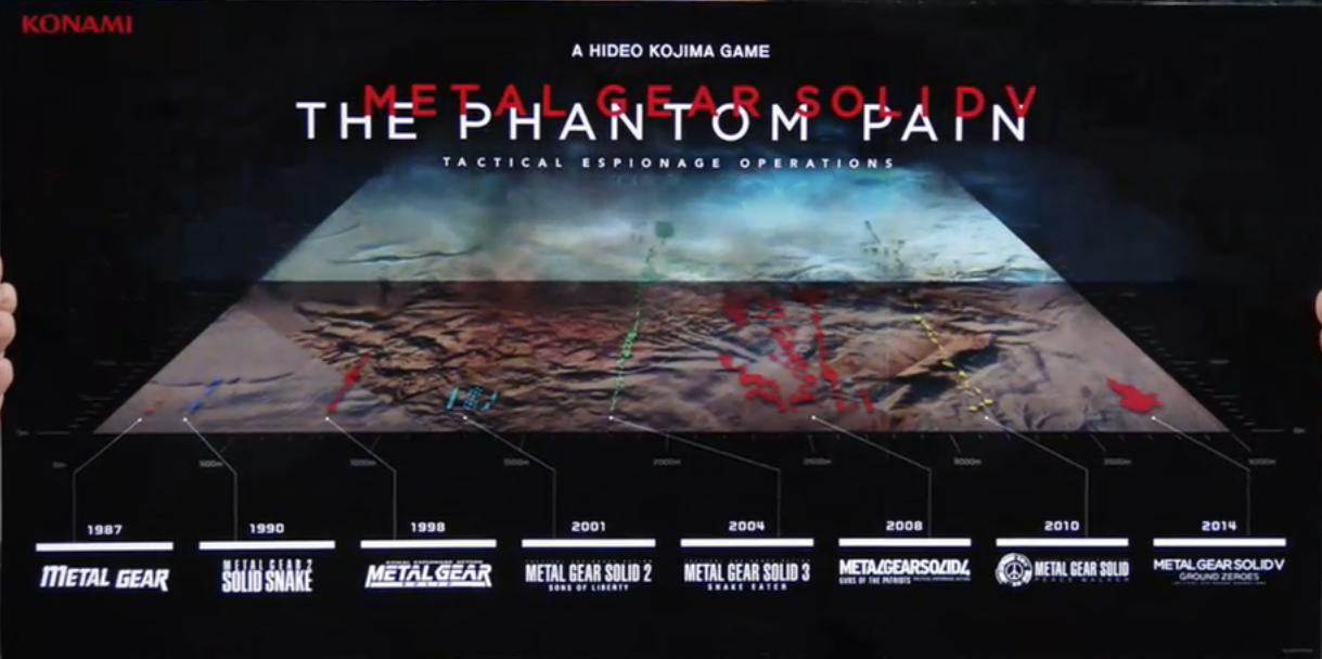 Metal Gear series Map Comparison