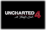 Uncharted 4 A Thief's End Logo black