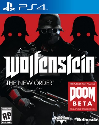 Wolfenstein The New Order cover PS4 USA