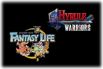 Hyrule Warriors - Fantasy Life Logo black