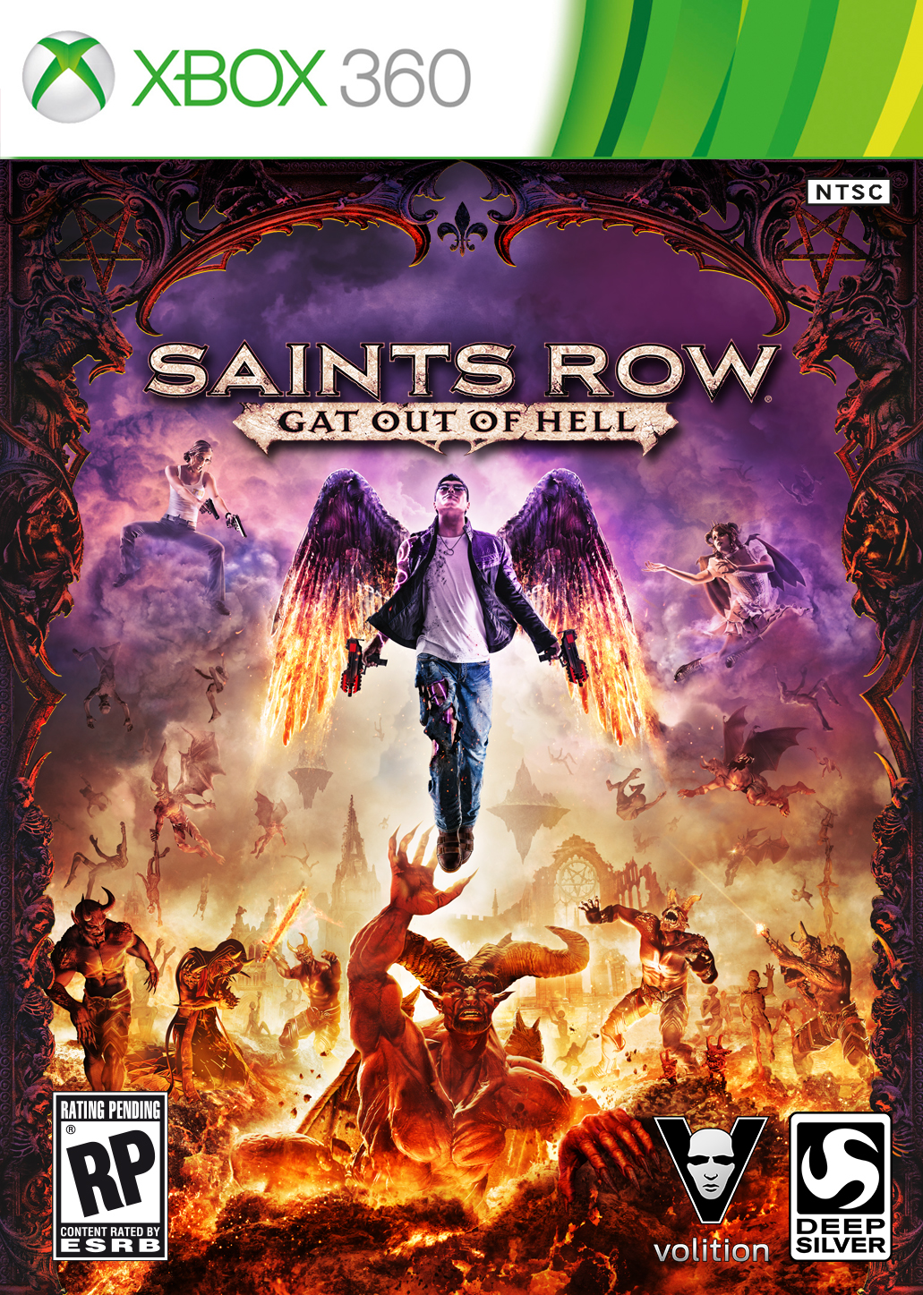 Saints Row Gat Out of Hell cover 360 USA