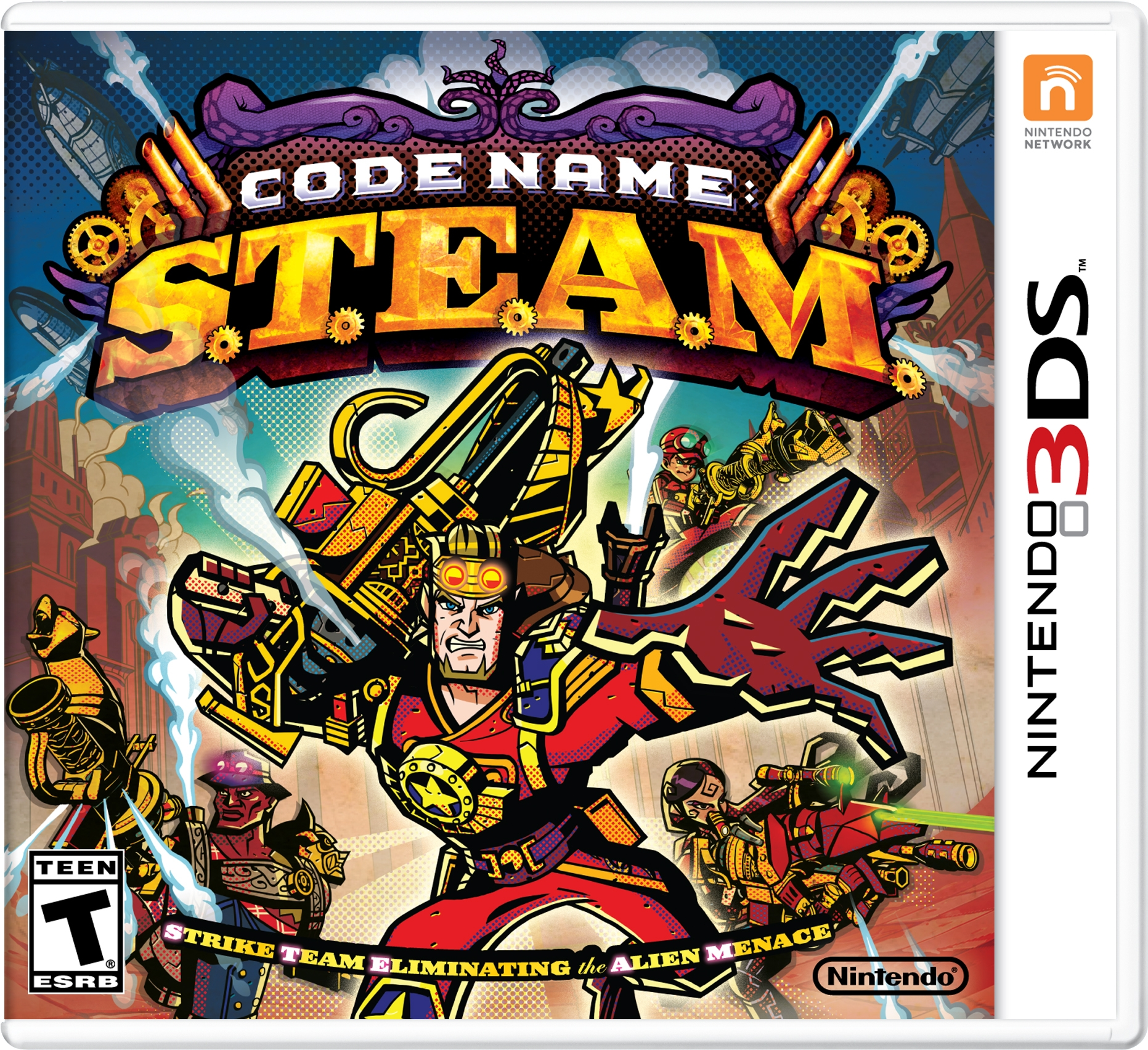 Codename STEAM cover 3DS USA