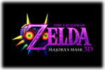The Lgend of Zelda Major's Mask 3D Logo black