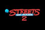 3D Streets of Rage 2 Logo black