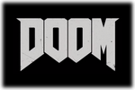 DOOM Logo black