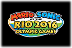 Mario & Sonic at the Rio 2016 Olympic Game sLogo black