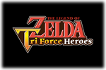 The Legend of Zelda Tri-Force Heroes Logo black