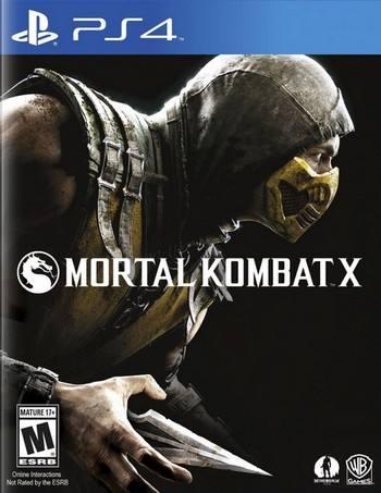 Mortal Kombat X cover PS4 USA