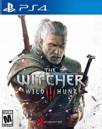The Witcher III Wild Hunt cover PS4 USA