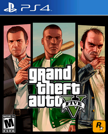 Grand Theft Auto V cover PS4 USA