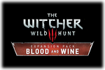 The Witcher III Wild Hunt Blood and Wine Logo black