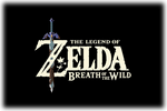 The Legend of Zelda Breath of the Wild Logo black